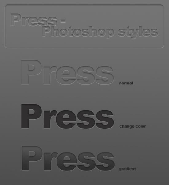 photoshop layer styles