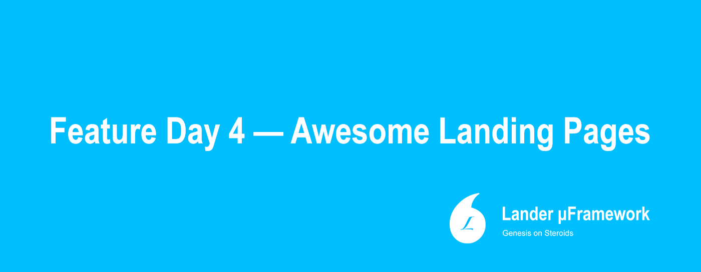 landing pages with lander