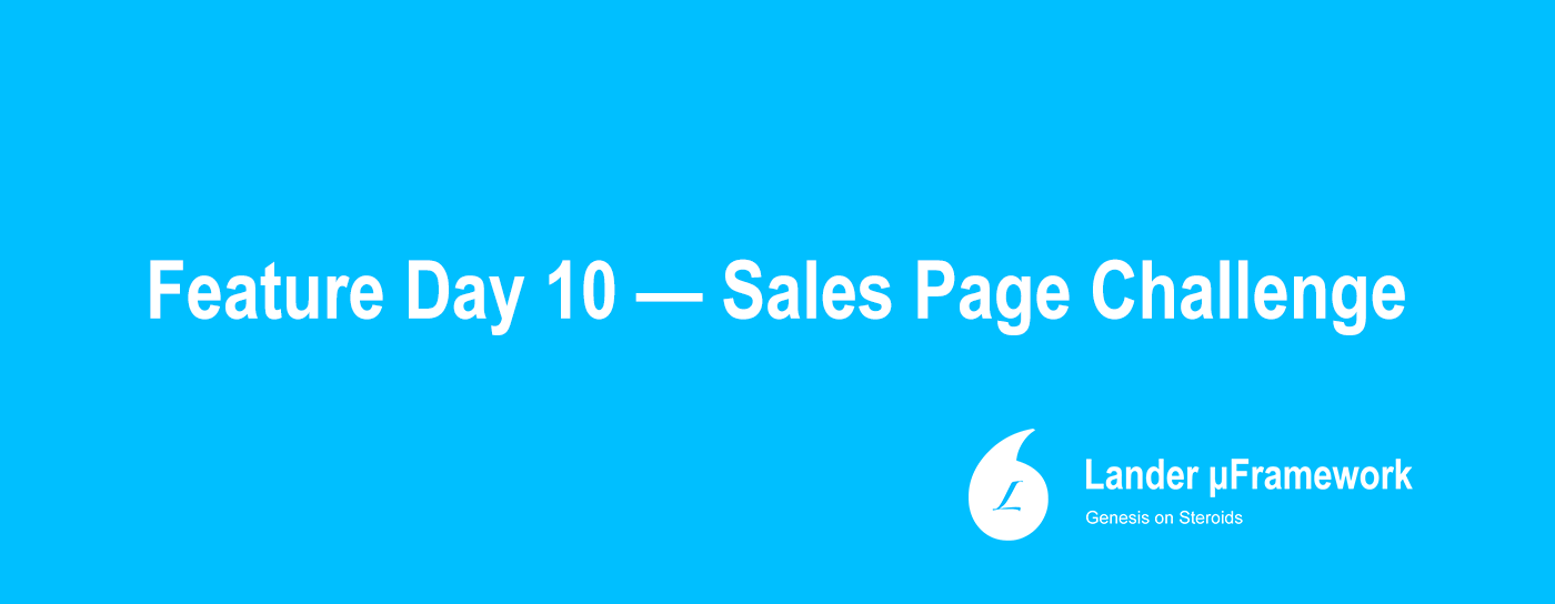 Sales Pages with Lander