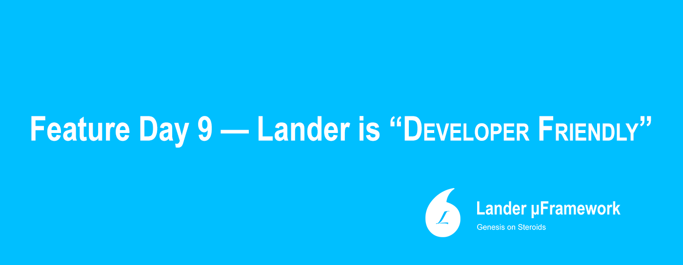 lander for developers