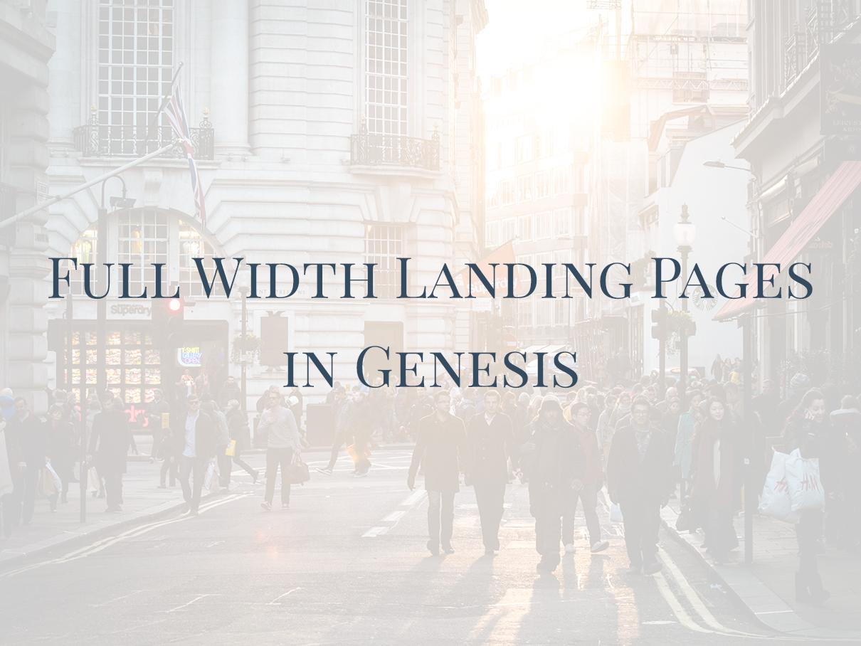Genesis-full-width-landing-pages