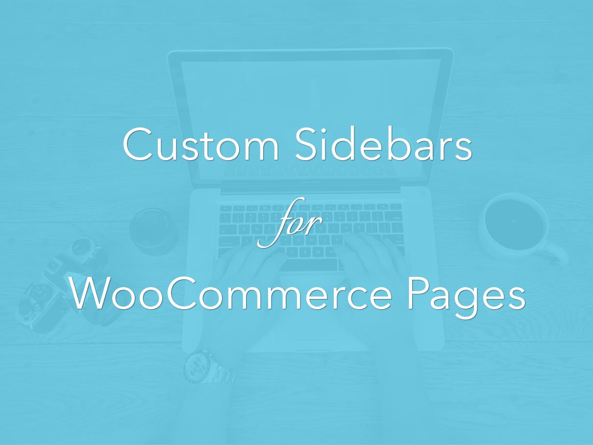 Woocommerce Sidebars
