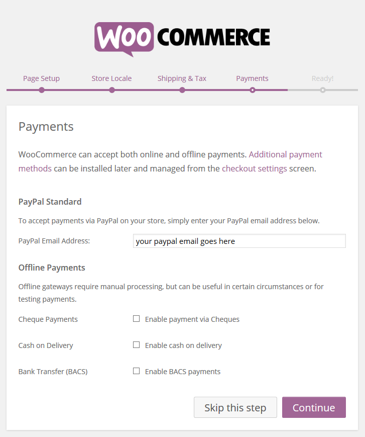 WooCommerce › Payments