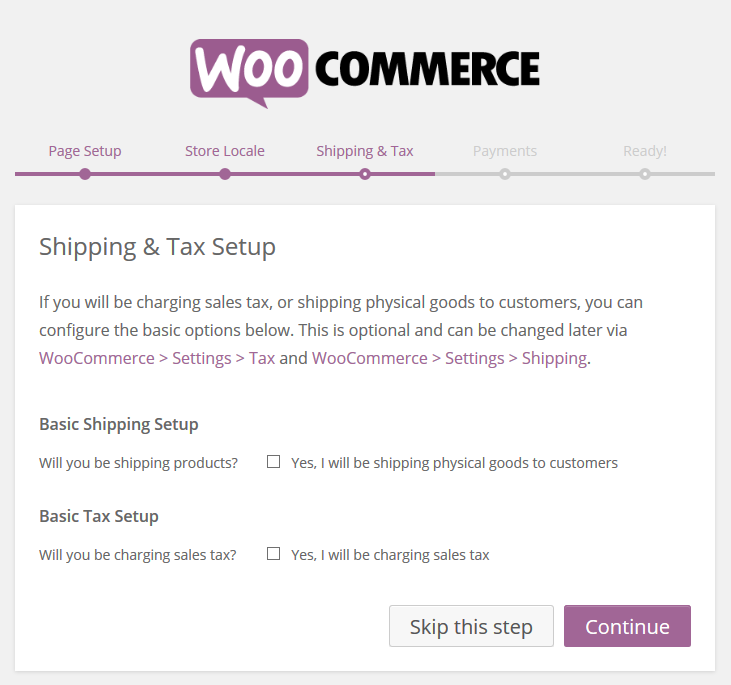 WooCommerce › Shipping And Tax