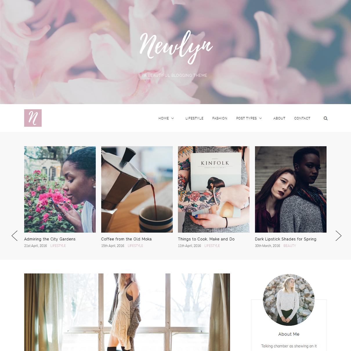 Newlyn-wordpress-feminine-blog-theme