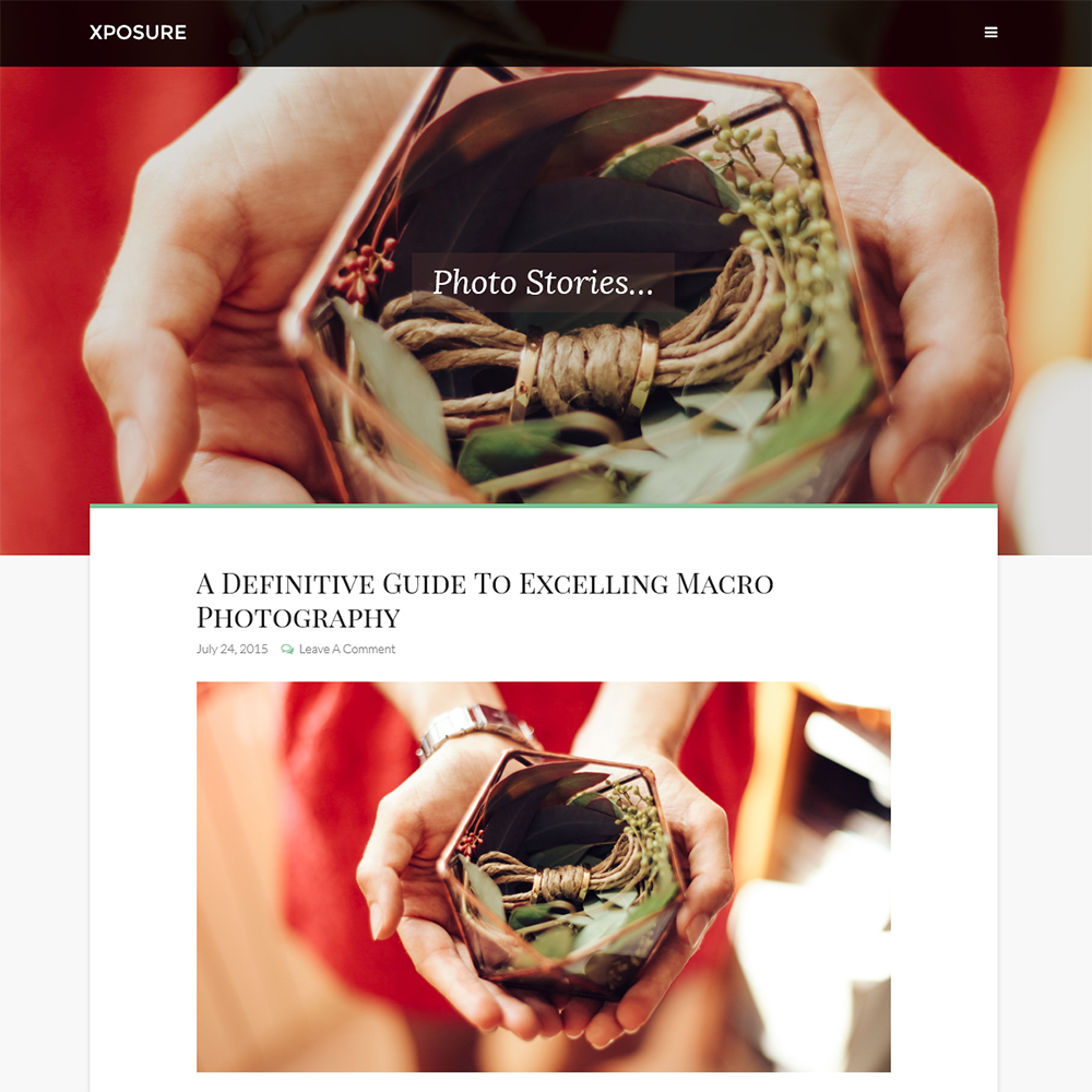 Xposure — A Mobile Responsive Breathtaking Genesis Child Theme For Photographers