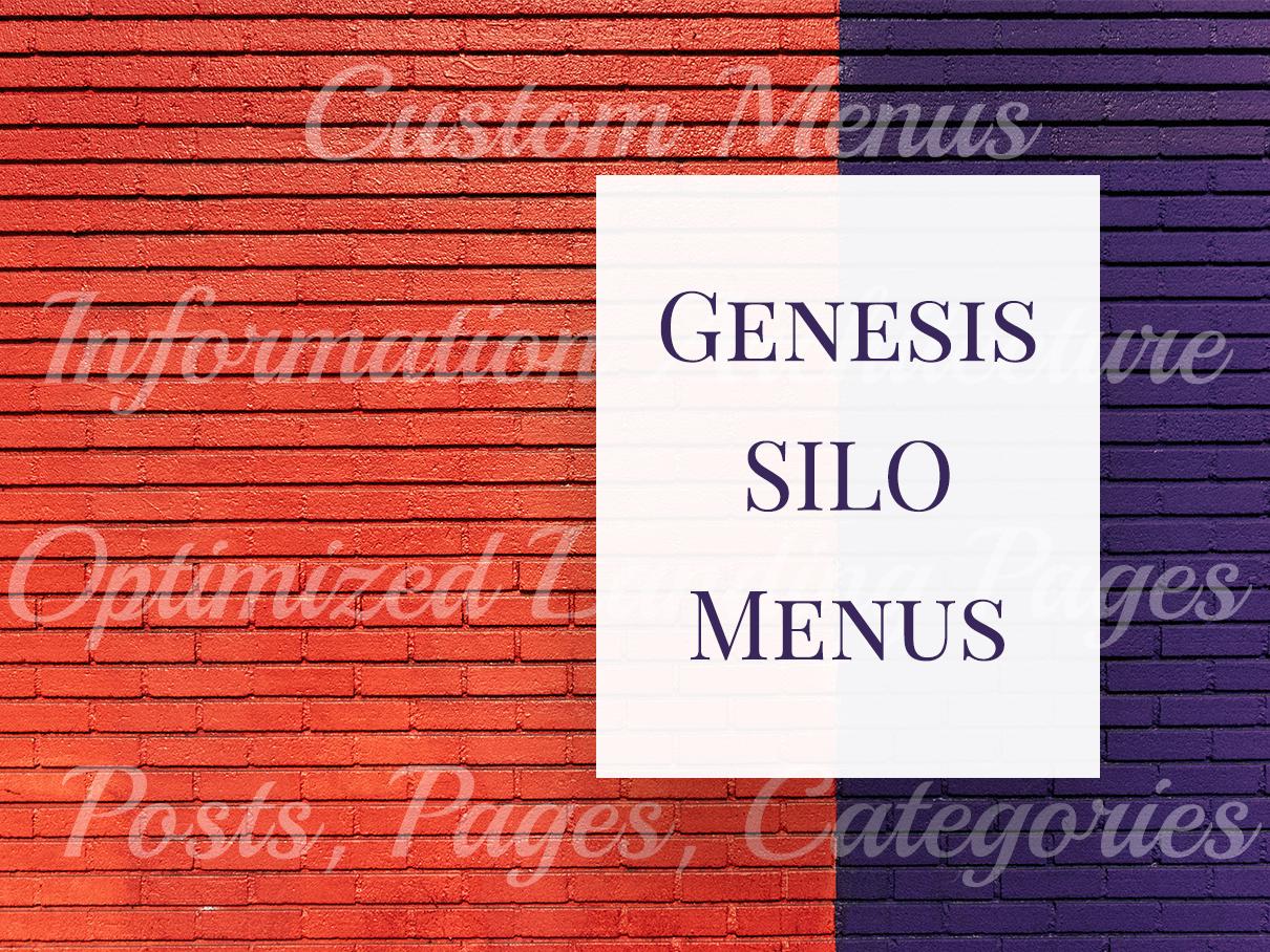 Genesis SILO Menus plugin