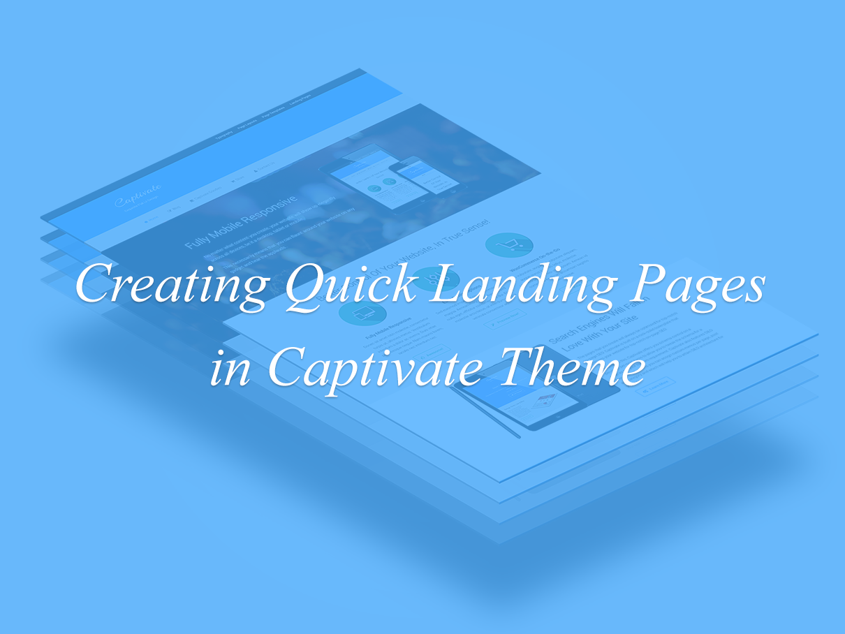 Captivate Landing Page