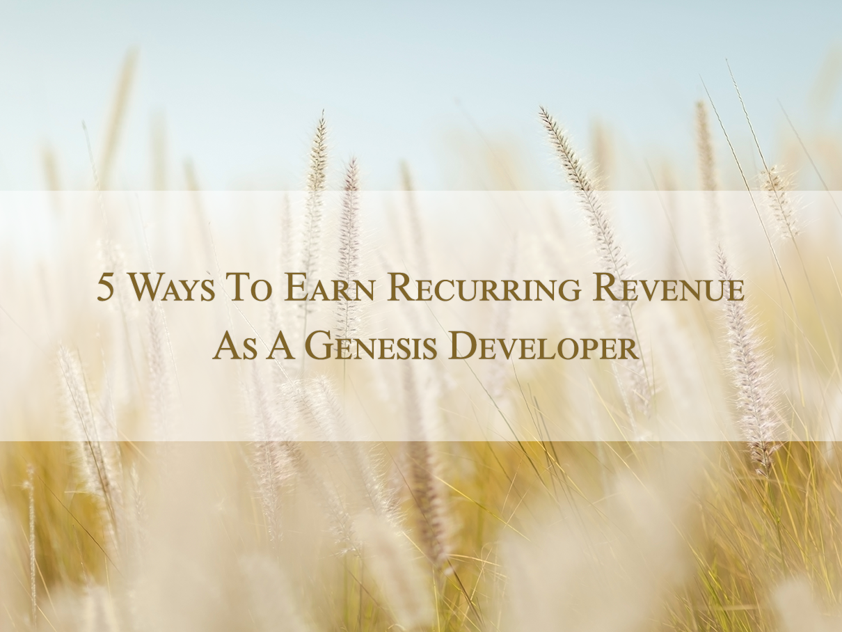 Recurring-revenue-for-genesis-developer