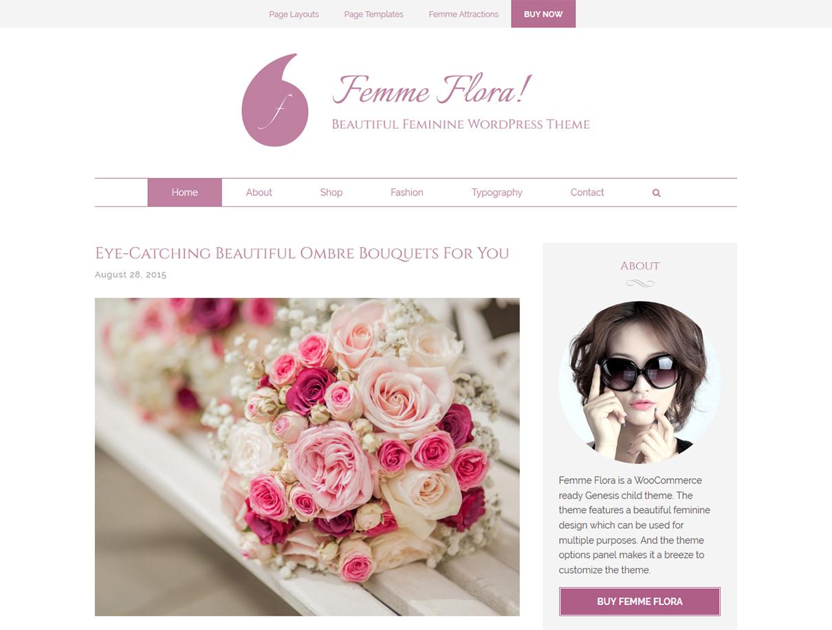 Femme-flora-wordpress-wedding-theme