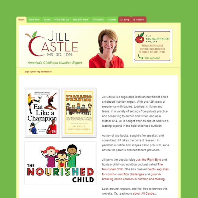JillCastle.Com — HTML to WordPress