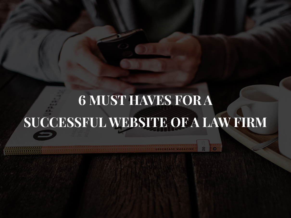 must haves for website of a law firm