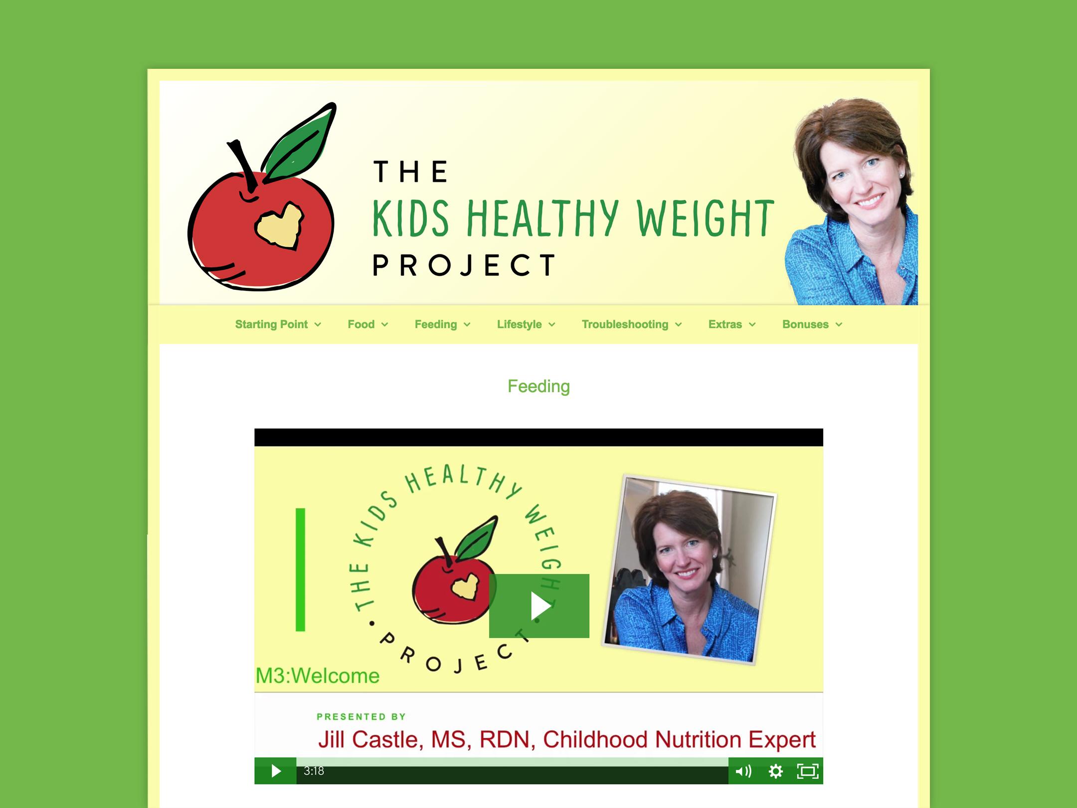 Membership Website For Nutrition Prep School