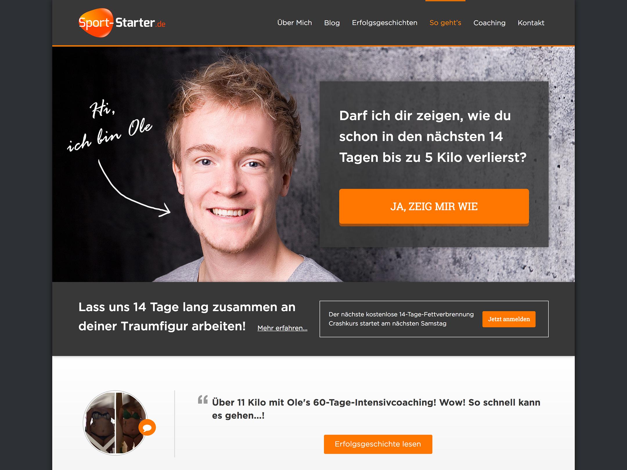 Custom Website Design For Sport Starter