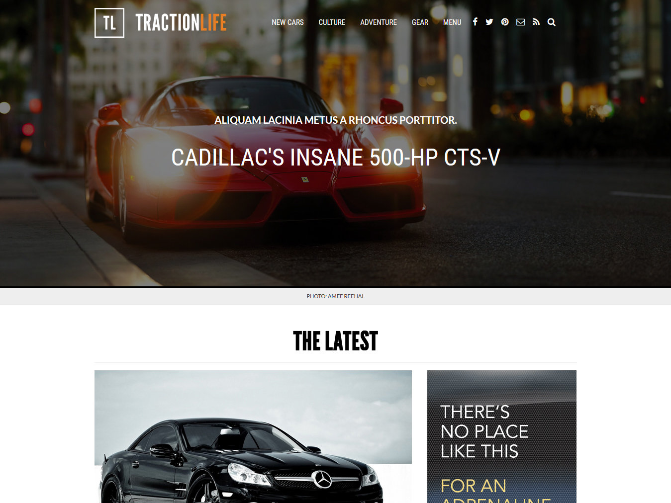 Custom website design for Traction Life