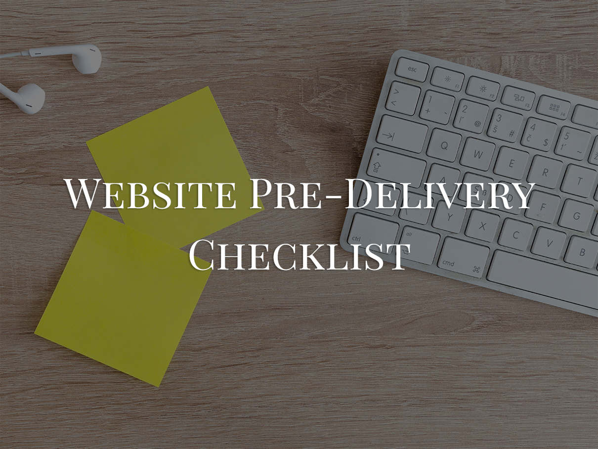pre-delivery-checklist-for-website