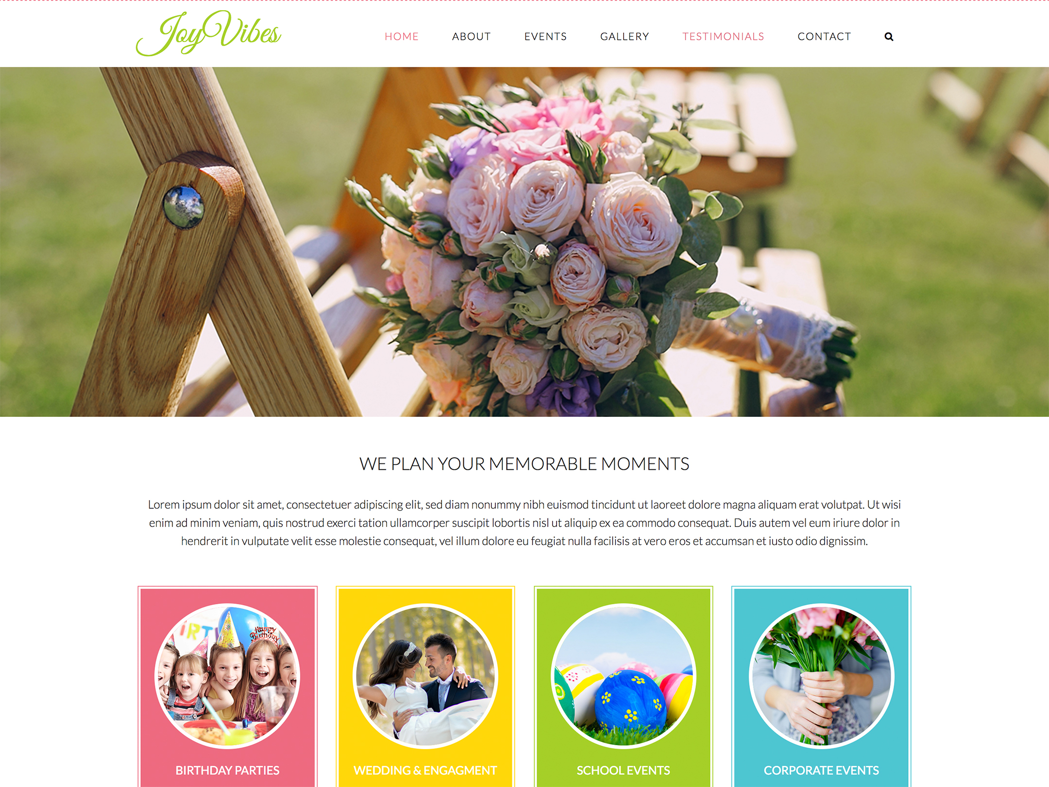 Website Redesign For Joy Vibes