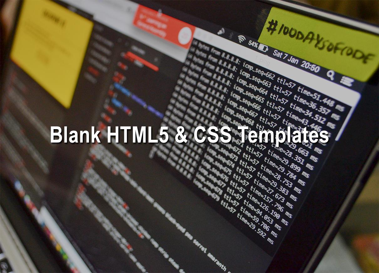 Blank Templates Html5 Css 2018