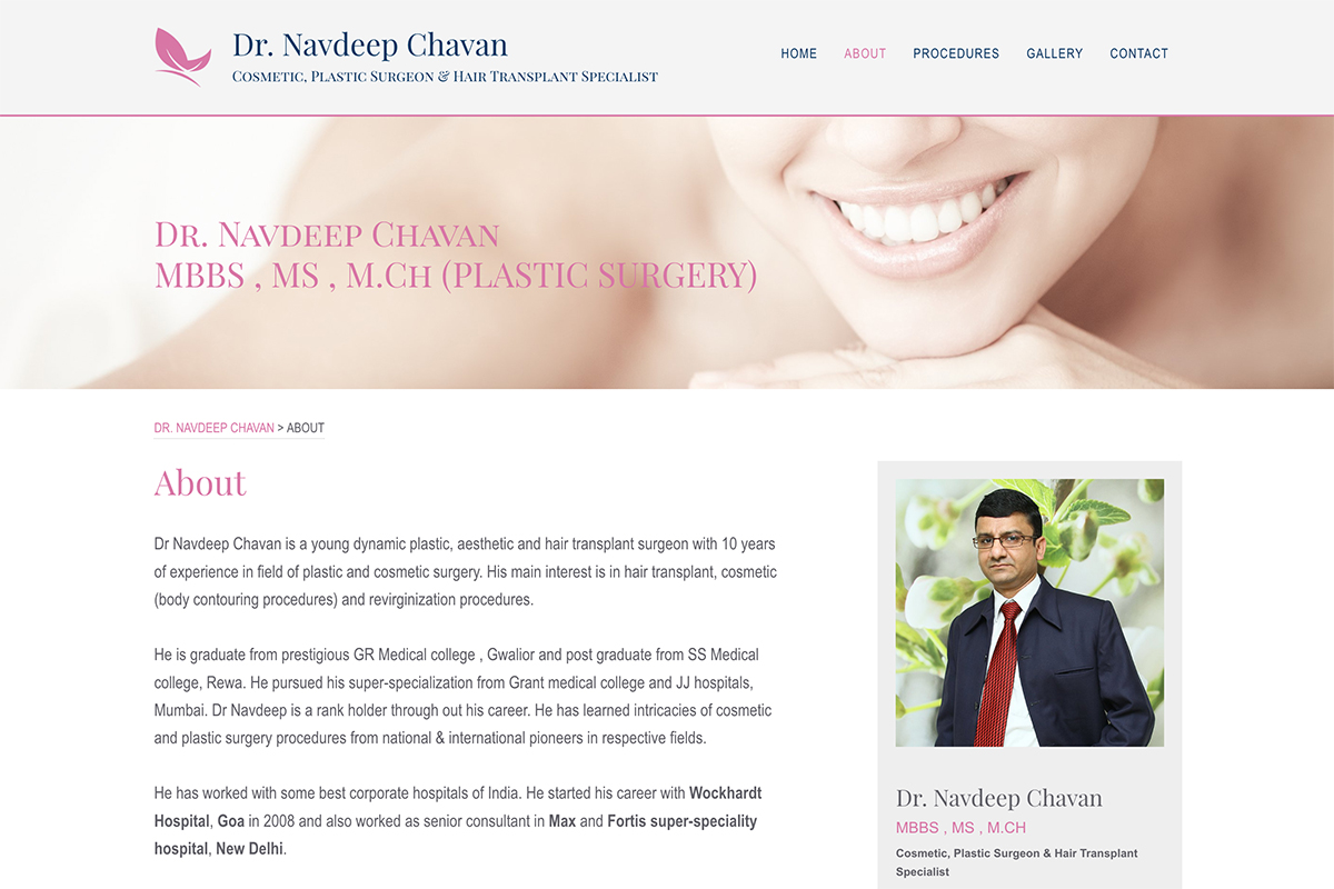 About Page for DrNavdeepChavan.Com