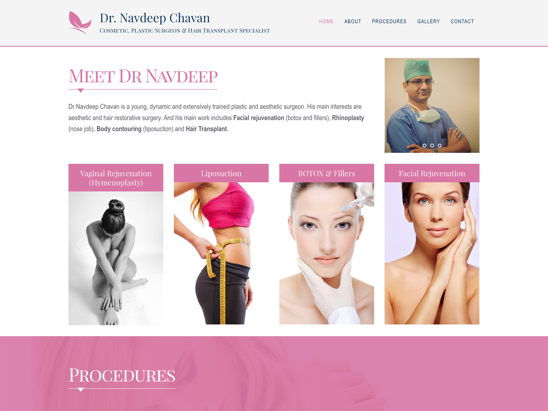 complete website design for dr navdeep chavan