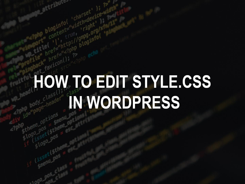 How to make edits in wordpress