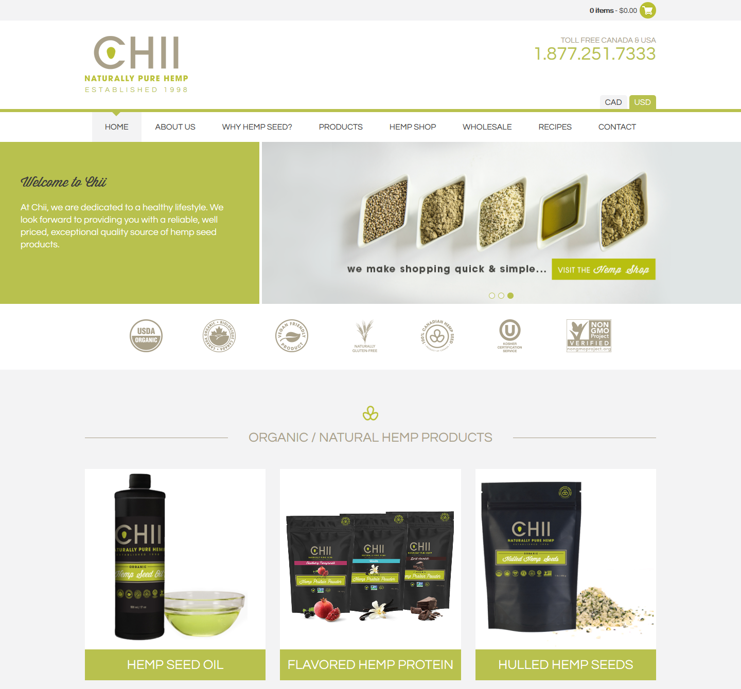 Chii powered by WooCommerce