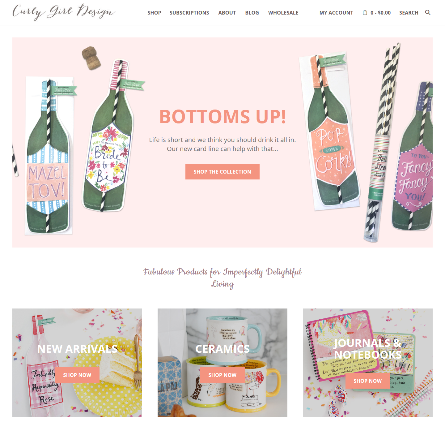 Curly Girl Design WordPress Ecommerce Site