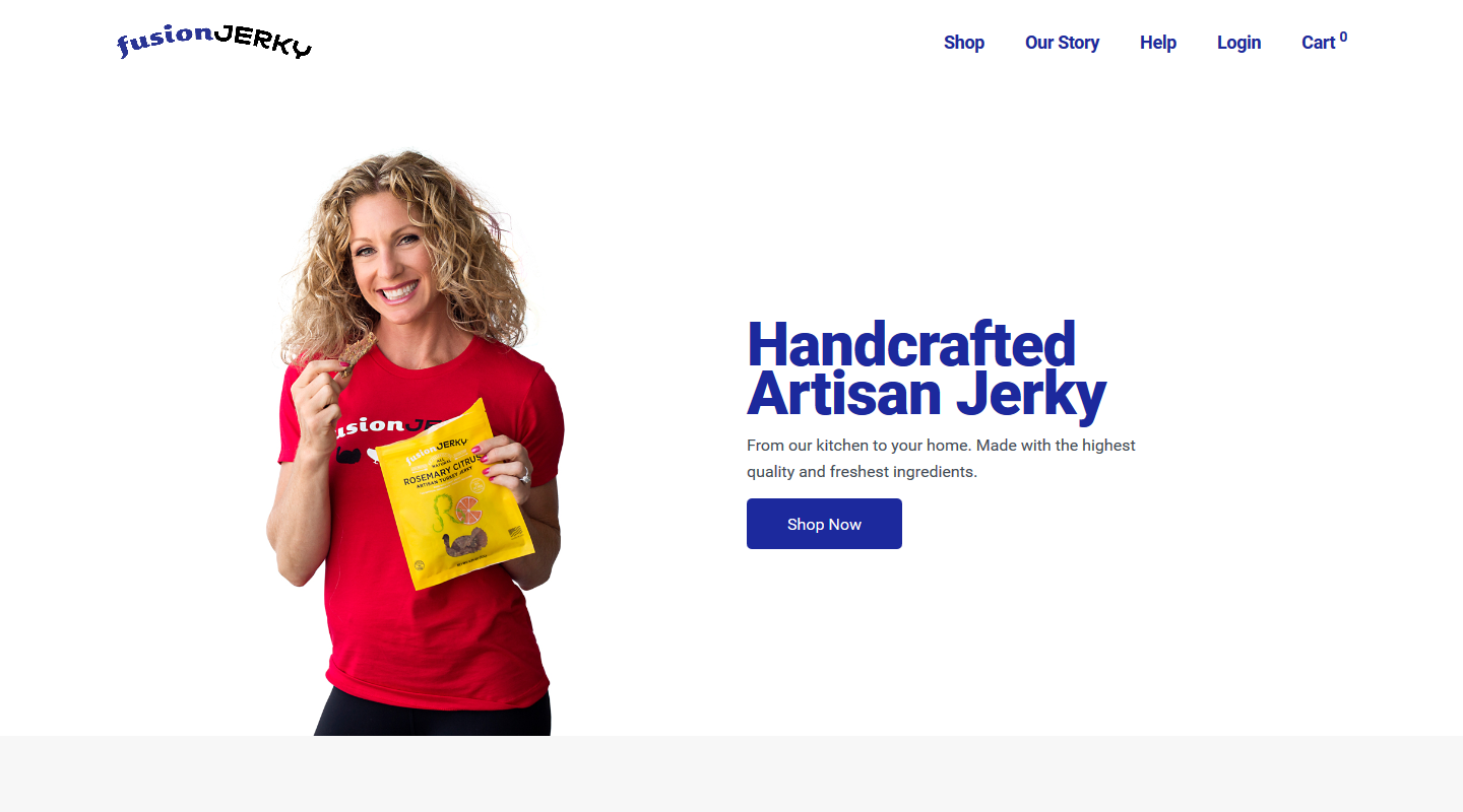 Fusion Jerky built on WooCommerce