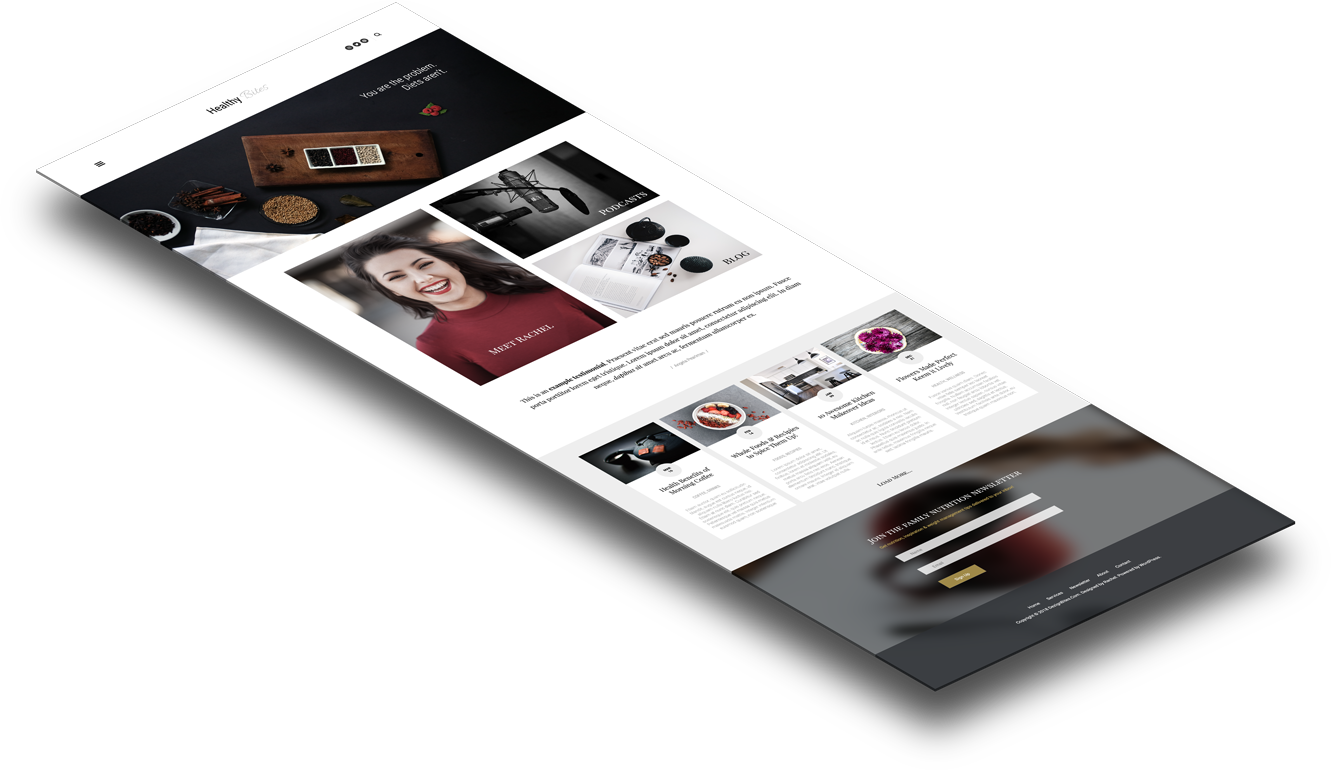 WordPress Theme For Female entrepreneurs & Creative Professionals