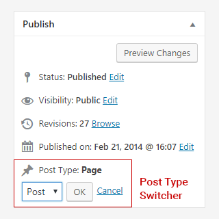 WordPress Post Type Switcher