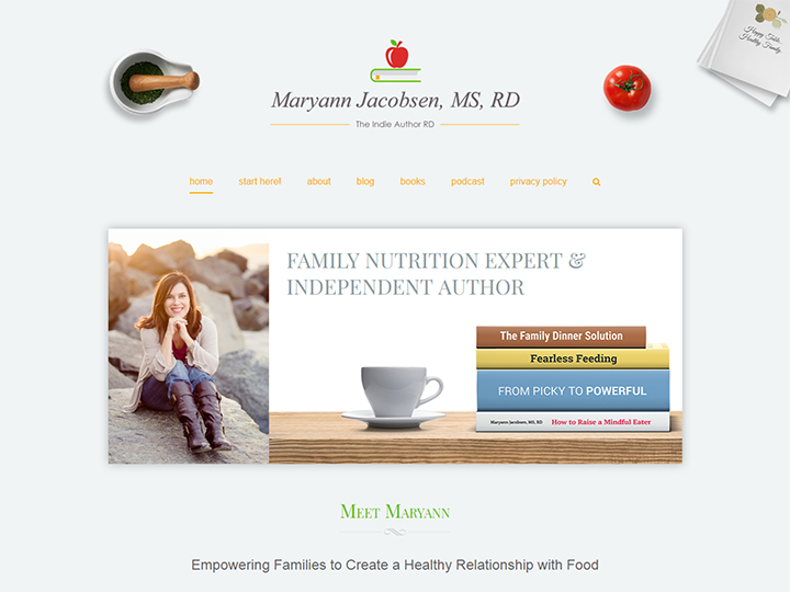MaryannJacobsen.Com - Website Design for Nutritionist