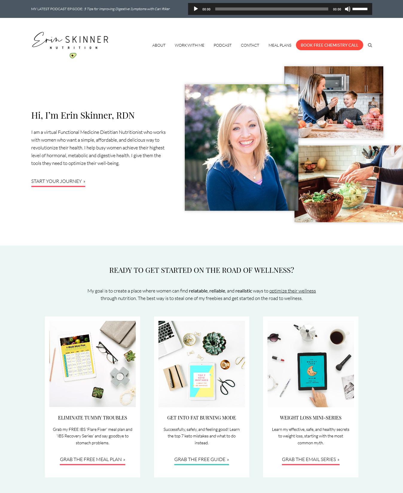 Website Redesign for Erin Skinner
